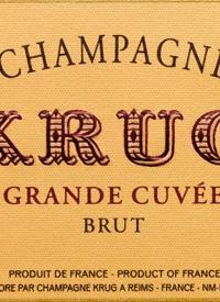 Krug Grande Cuvée Bruttext