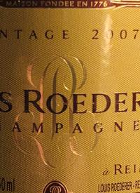 Louis Roederer Brut Vintage Champagne