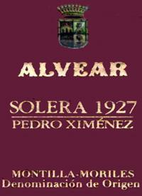 Alvear Solera 1927 Pedro Ximeneztext