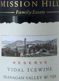 Mission Hill Vidal Icewine Reservetext