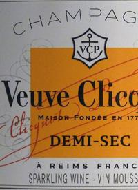 Veuve Clicquot Demi-Sectext