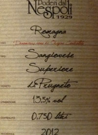 Poderi dal Nespoli Prugneto Limited Editiontext