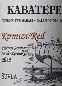 Suvla Kabatepe Kirmizi Red Cabernet Sauvignon - Syrah - Karasakiztext