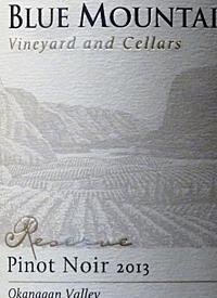 Blue Mountain Reserve Pinot Noirtext