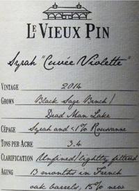 Le Vieux Pin Syrah Cuvée Violettetext