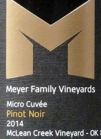 Meyer Family Vineyards Pinot Noir Micro Cuvée McLean Creek Vineyards