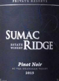 Sumac Ridge Pinot Noir Private Reservetext
