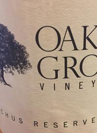 Oaken Grove Vineyard Bacchus Reservetext