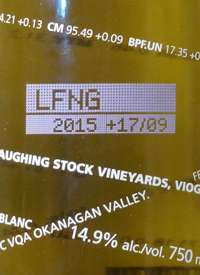 Laughing Stock Vineyards Viognier +07/10text
