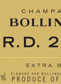 Champagne Bollinger R.D Extra Bruttext
