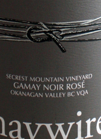 Haywire Gamay Noir Rosé Secrest Mountain Vineyardtext