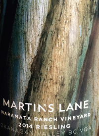 Martin's Lane Naramata Ranch Vineyard Rieslingtext