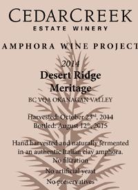CedarCreek Amphora Wine Project Desert Ridge Meritage