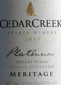 CedarCreek Platinum Desert Ridge Single Vineyard Meritage