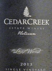 CedarCreek Platinum The Last Wordtext
