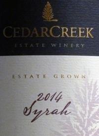 CedarCreek Syrahtext