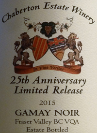 Chaberton 25th Anniversary Limited Release Gamay Noirtext