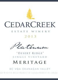CedarCreek Platinum Desert Ridge Merlottext