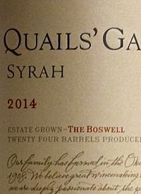 Quails' Gate Syrah The Boswell