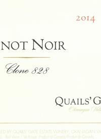 Quails' Gate Pinot Noir Clone 828text