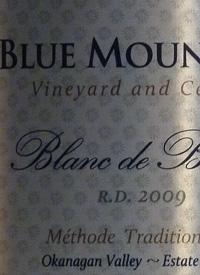 Blue Mountain Blanc de Blancs R.D. Méthode Traditionelle