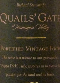 Quails' Gate Fortified Vintage Fochtext