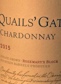 Quails' Gate Chardonnay Rosemary's Blocktext