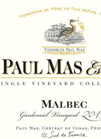 Paul Mas Estate Single Vineyard Collection Malbec Gardemiel Vineyard