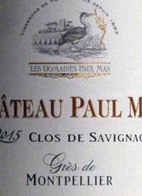 Château Paul Mas Clos de Savignac Gres de Montpelliertext