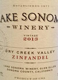 Lake Sonoma Zinfandeltext
