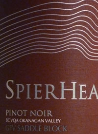 Spierhead Pinot Noir GFV Saddle Block