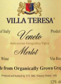 Villa Teresa Merlot (Organic)text