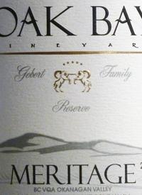 Oak Bay Vineyard Meritage Gebert Family Reservetext