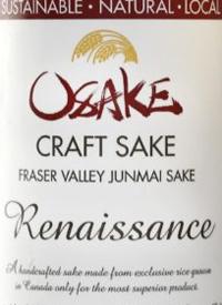 Osake Fraser Valley Junmai - Renaissance