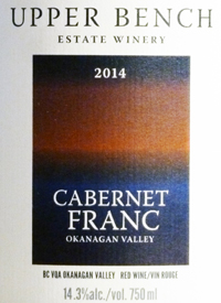 Upper Bench Cabernet Franc Estate Growntext