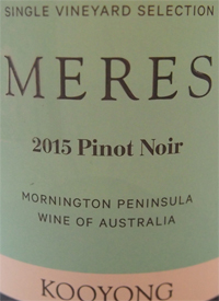 Kooyong Single Vineyard Meres Pinot Noirtext