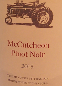 Ten Minutes by Tractor McCutcheon Pinot Noirtext