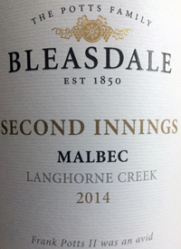 Bleasdale Second Innings Malbectext
