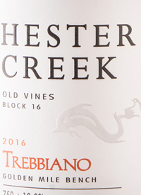 Hester Creek Old Vines Block 16 Trebbianotext