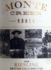 Monte Creek Ranch Riesling
