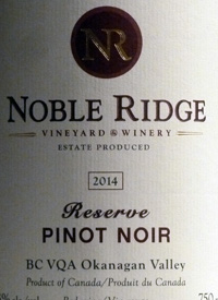 Noble Ridge Reserve Pinot Noirtext