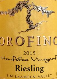 Orofino Hendsbee Vineyard Rieslingtext