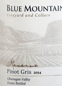 Blue Mountain Reserve Pinot Gris