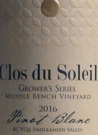 Clos du Soleil Grower's Series Pinot Blanc Middle Bench Vineyardtext