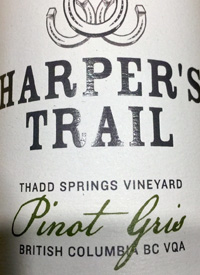 Harper's Trail Pinot Gris Thad Springs Vineyard