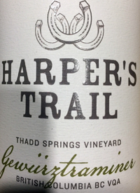 Harper's Trail Gewurztraminer Thad Springs Vineyard
