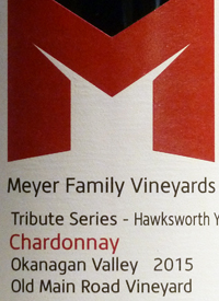 Meyer Family Vineyards Chardonnay Tribute Series - Hawksworth Young Chef Scholarship Old Main Road Vineyardtext