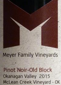 Meyer Family Vineyards Pinot Noir Old Block McLean Creek Vineyard - OK Fallstext