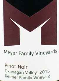Meyer Family Vineyards Pinot Noir Reimer Vineyard Kelowna