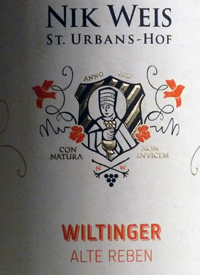 Nik Weis St. Urbans-Hof Wiltinger Alte Rebentext